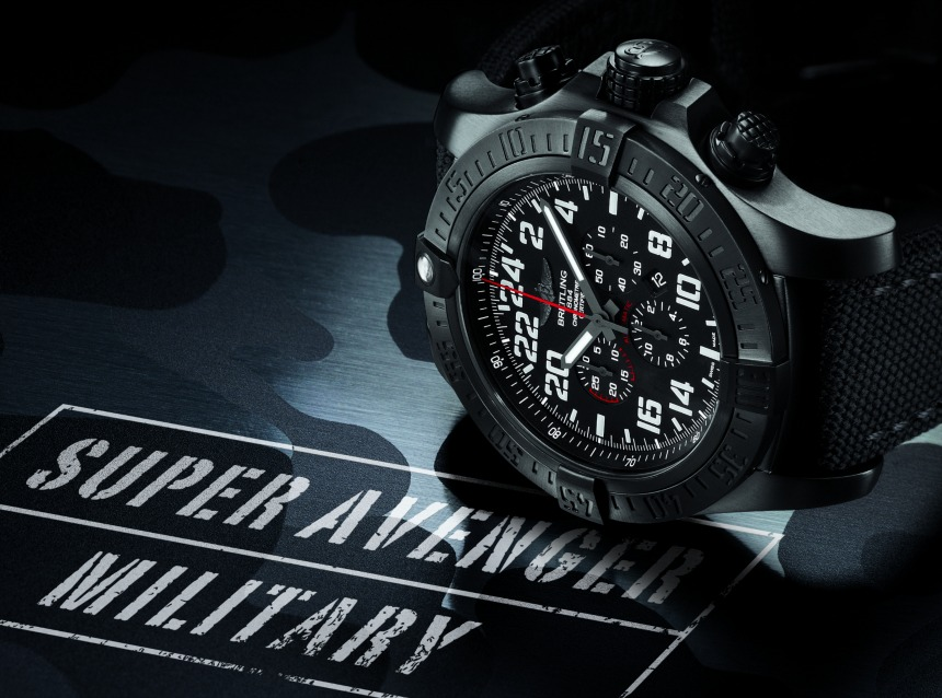 Breitling Super Avenger Military Limited Series Watch With 24 Hour Time Hands-On