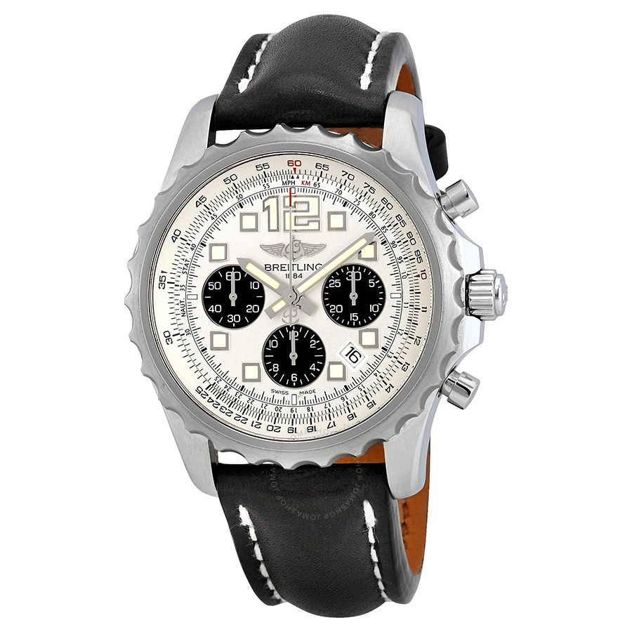 Breitling Chronospace Automatic Silver Dial Black Leather Men's Watch A2336035/G718BKLT